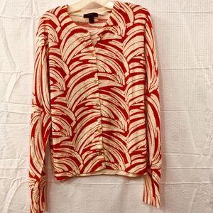 J Crew Women's 100% Merino Wool Cardigan Size Lg